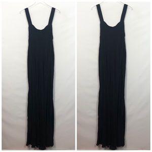 Johnny Was Black Maxi Dress Embroidered Medium